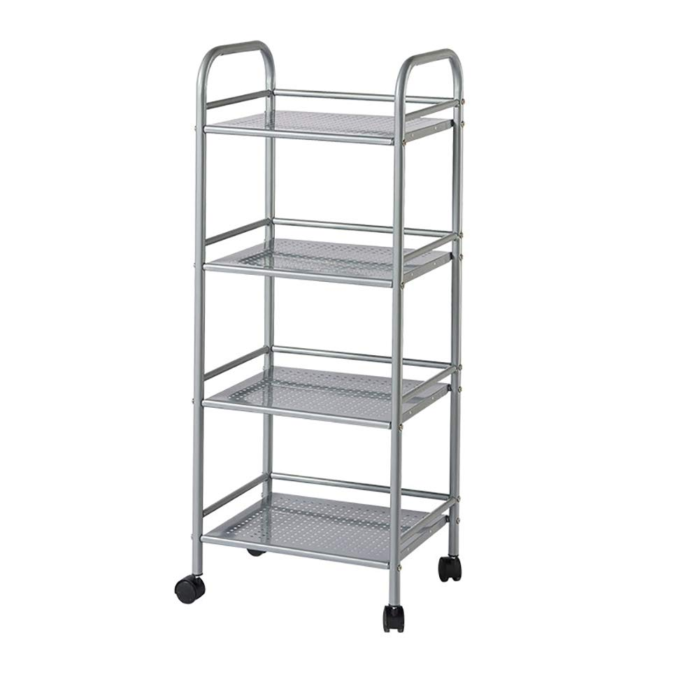 Kitchen Cart, with Wheel Storage Rack, Multi-Function Movable Trolley, Environmentally Friendly Spray Material Multiple Uses