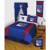 NHL New York Rangers Hockey Team 4pc Twin Bedding Set