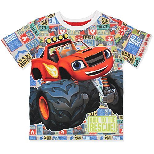 Blaze and The Monster Machines Boys Short Sleeve Tee (3T, - Images Blaze