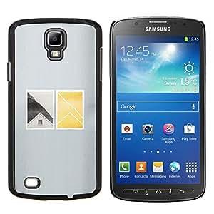 YiPhone /// Prima de resorte delgada de la cubierta del caso de Shell Armor - Casa Ventana profundo minimalista - Samsung Galaxy S4 Active i9295