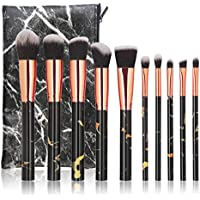 10 Pcs MAGEFY Marble Makeup Brush Set