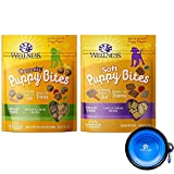 Wellness Puppy Bites for Dogs Variety Bundle 2 Pack (Lamb Salmon & Chicken Carrots) For Sale