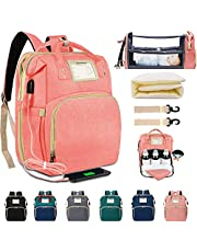 itPlus Baby Diaper Backpack with Changing Station USB Sunshade Stroller Strap