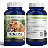 Premium Canine Glucosamine Chondroitin with MSM for Dogs, Great All Natural Beef Liver Chews Supplement for Hip and Joints, Safe and Made in USA (60 Count)