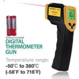 PARTYSAVING Non-Contact Infrared Thermometer, -58℃ – 716℃ (-50℉ – 380℉), Temperature Gun with Precision Laser Technology for Kitchen Home Industrial, APL1348