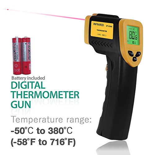 Industrial Thermometer Adjustable (PARTYSAVING Non-Contact Infrared Thermometer, -58℃ – 716℃ (-50℉ – 380℉), Temperature Gun with Precision Laser Technology for Kitchen Home Industrial, APL1348)