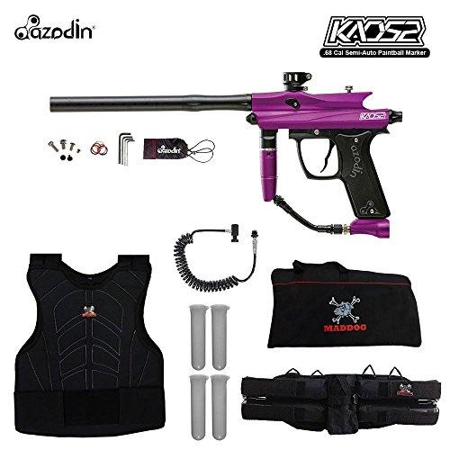 (MAddog Azodin KAOS 2 Sergeant Paintball Gun Package - Purple/Black)