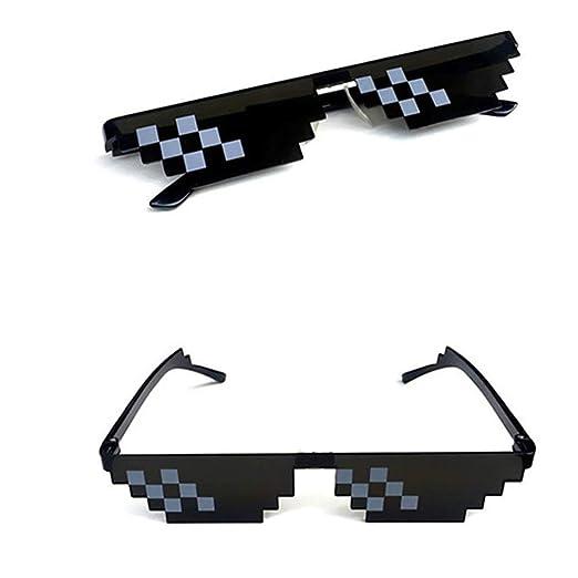 156b5abf30f Magik Thug Life Glasses Sunglasses MLG Shades Eyewear 8 Bit Pixel Unisex  Meme Cool Mosaic Glasses