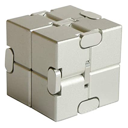 Alician Unlimited Cube Aluminum Alloy Reduced Pressure Pocket Toy Eucalyptus Silver Flower