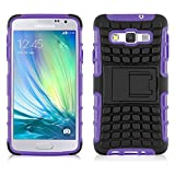 JAMMYLIZARD [ Samsung Galaxy A5 Case ] ALLIGATOR Heavy Duty Double Protection Rugged Back Cover, Purple