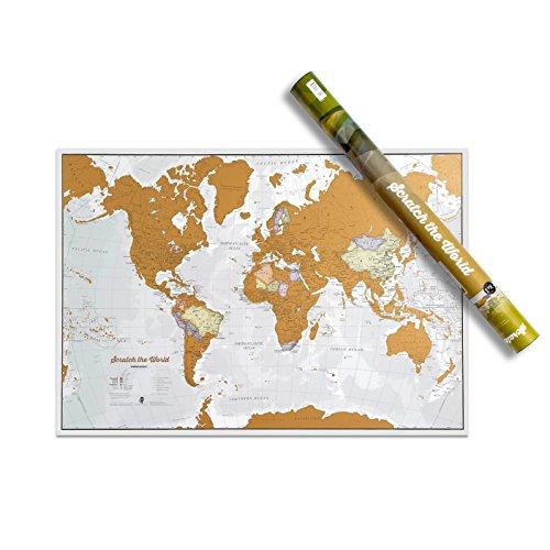 Maps International Scratch the World Travel Map – Scratch Off World Map...