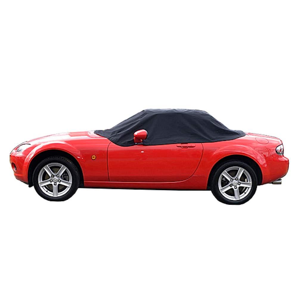 Black North American Custom Covers Compatible Soft Top Roof Protector Half Cover for Mazda Miata MX5 Mk3