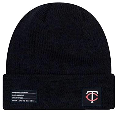 68290c819 Image Unavailable. Image not available for. Color: New Era MLB Minnesota  Twins Sport Stocking Knit Hat Beanie Cuffed Skull Cap Navy