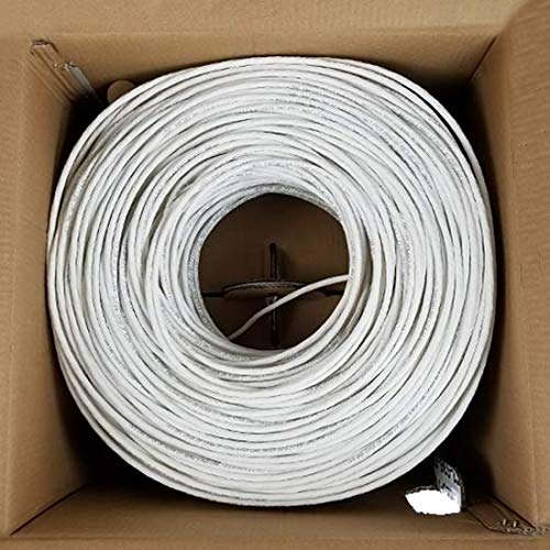 CAT5E Plenum 1000FT 350MHZ 24AWG Solid Network Cable UTP CMP White