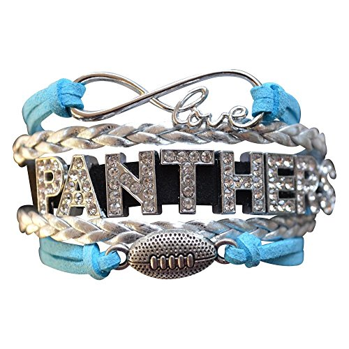 Carolina Panthers Bracelet - Rhinestone Carolina Panthers Jewelry & Perfect Football Fan Gift