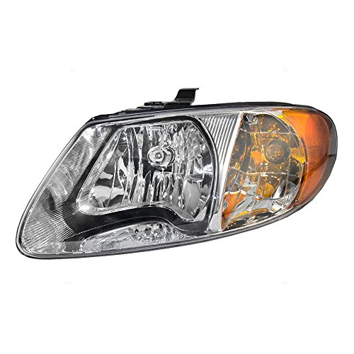 "Headlight Headlamp Driver Replacement for 01-07 Dodge Caravan Chrysler Town & Country Voyager 113"" Wheel Base Van 4857701AC"
