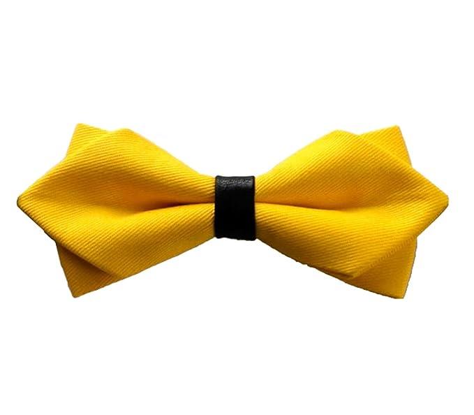 Design Tie High End lujo lazo con color puro algodón doble negro ...