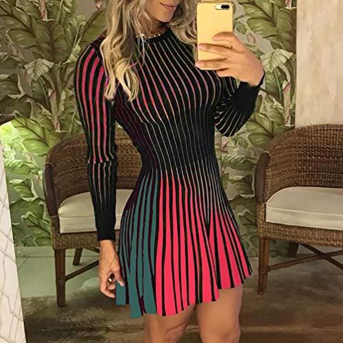 Abito Con Fcgv Da Elegante Maniche Vestito SexyVerdem Donna Lunghe thrdsQ