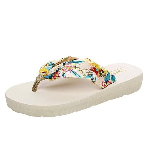 ea0c515f66529 DENER❤ Women Ladies Summer Sexy Slippers Thong, Bohemian Flip ...