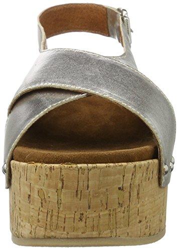Mujer Shoe Biz Cuña Sandal con Sandalias Velvet Platau para Silver Plateado SHHXr0