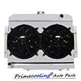 7 radiator fan - Primecooling 3 Row Aluminum Radiator + Fan (12 Inches Dia.) w/ Shroud for Jeep CJ5 CJ6 CJ7, CJ Series 1972-86, CC583FS