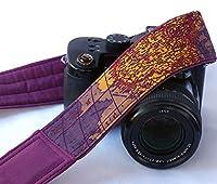 Purple World Map Camera Strap. Padded Camera Strap. Camera Neck Strap, Canon camera strap, Nikon camera strap, Men's, Women's; 030