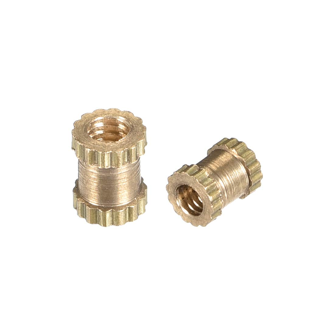 Female Thread Brass Embedment Assortment Kit 100 Pcs L uxcell Knurled Insert Nuts x 4mm M3 x 4mm OD