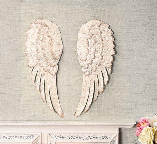 White Metal Angel Wing Decor