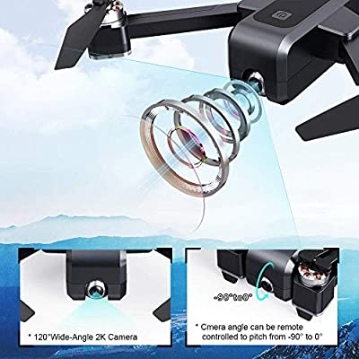 GPS Drone with 2K Camera for Adults,EACHINE EX3 Brushless 5G WiFi FPV with 2K Camera Optical Flow OLED Switchable Remote Foldable RC Drone Quadcopter RTF