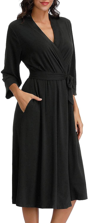 Zexxxy Donna Abito da Sera Lungo Kimono Leggero/Accappatoio Maglieria da Notte per Tutte Le Stagioni