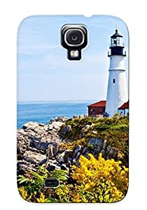 lintao diy Alexanderdson Sanp On Case Cover Protector For Galaxy S4 (lighthousesealandscape Ocean Buildings ) For Christmas Day's Gift