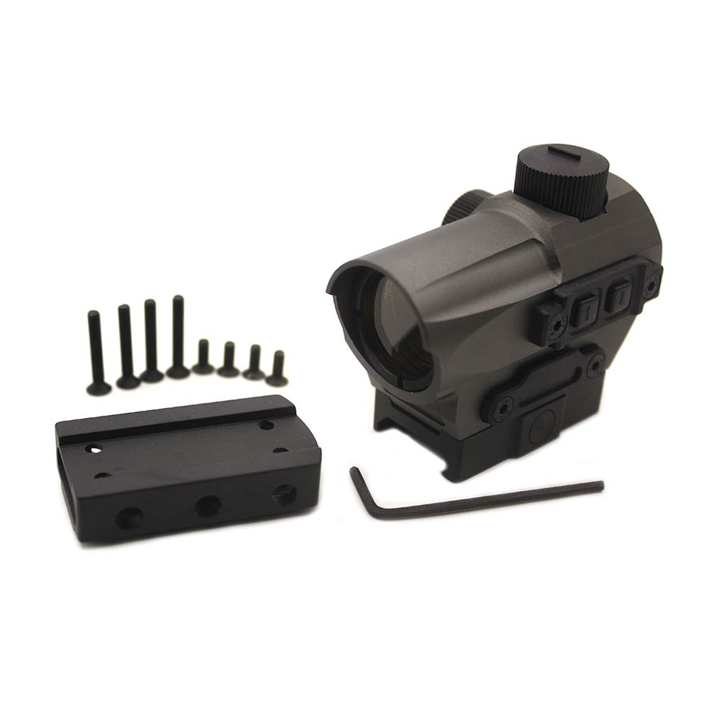 ELAN MILRE New Red Dot Sight 1.5 MOA Mini Red Dot with 20mm Rail Mount Rifle Scope Hunting for Air Rifle Optics-Grey by ELAN MILRE