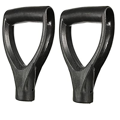 Highmoor Plastic Replacement Snow Shovel D Grip Handle for Shovels, Fork Spade Snow Scoop Handle Digging Raking Tools Hand Protect Garden Accessories 2pcs