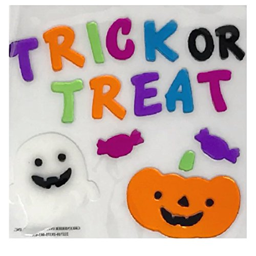 Halloween Window Decorations Trick Or Treat Ghost and Pumpkin 24 Pcs 10 x 8 inch (26 x 20 cm) (Halloween Borderlands 2)