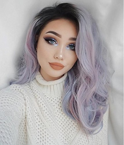 uniwigs Coco Synthetic Lace Front Wig, Mixed an Obmre Col...