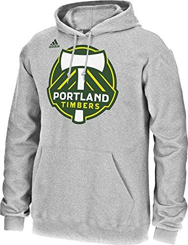 Mls Portland Timbers Mens Logo Set Hooded Fleece Shirt  Small  Gray
