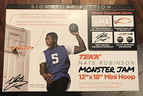 Monster Jam Mini Basketball Hoop Nate Robinson Edition