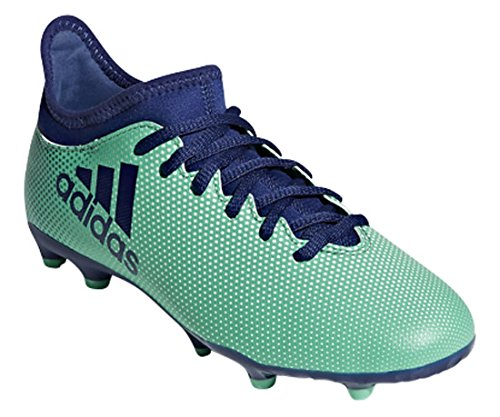 adidas  Boys X 17.3 FG J Soccer Shoe, Black/Solar Red/Solar Orange, 12 Medium US Little Kid