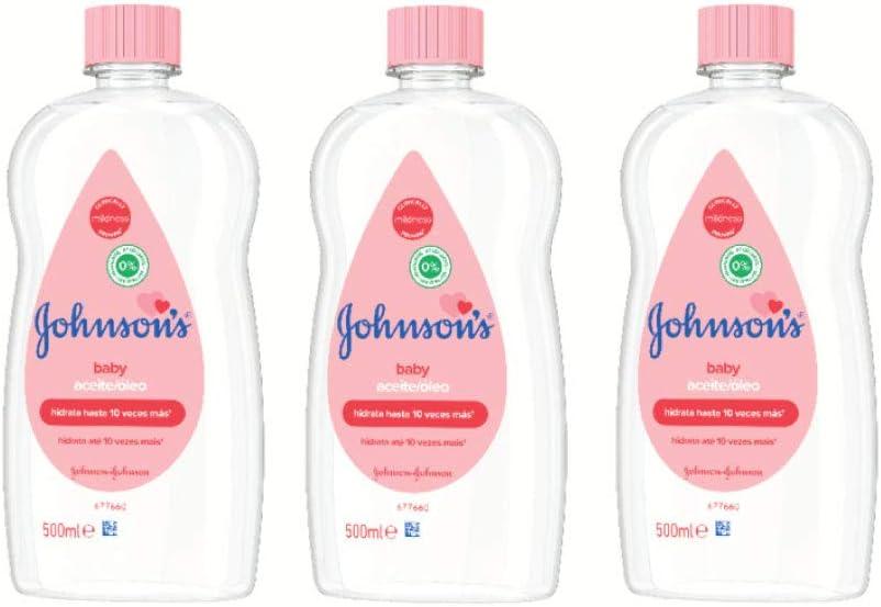 Johnsons Baby Aceite Regular, Deja la Piel Suave y Sana, Ideal para Pieles Delicadas - 3 x 500 ml: Amazon.es: Belleza
