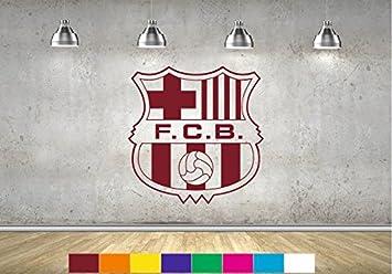 Barcelona FC adhesivo decorativo para pared niños dormitorio pared adhesivo  Mural fútbol BAR1 2dc188bdd5e