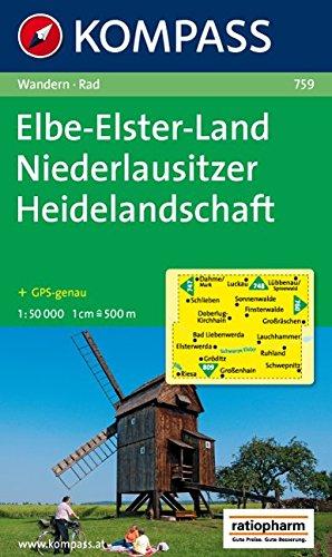 Elbe-Elster-Land - Niederlausitzer Heidelandschaft: Wanderkarte mit Radrouten. GPS-genau. 1:50000 (KOMPASS-Wanderkarten, Band 759)