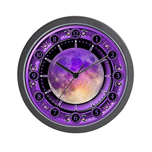 Clock Of The Purple Moon - Unique Decorative