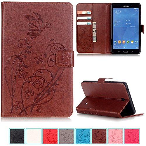 Case UUcovers Embossed Synthetic Butterfly T235 Brown product image
