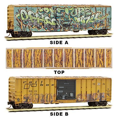 Micro-Trains MTL N-Scale 50ft Box Car Railbox Vegetarian Day Graffiti #32031