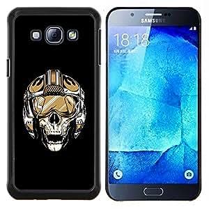"Be-Star Único Patrón Plástico Duro Fundas Cover Cubre Hard Case Cover Para Samsung Galaxy A8 / SM-A800 ( Cráneo Piloto"" )"
