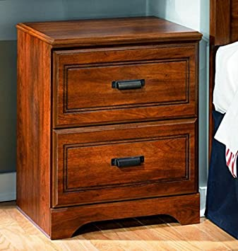 Ashley Furniture Signature Design   Barchan Nightstand   2 Drawers   Casual  Replicated Cherry Grain