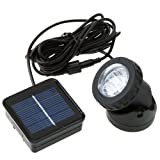 Outdoor Solar Powered LED Spotlight Lamp 6 LEDs Waterproof Available for Pool Use