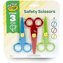 Crayola My First 3 Count Safety Scissors Toddler Art Supplies, 3ct