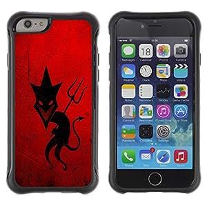 LASTONE PHONE CASE / Suave Silicona Caso Carcasa de Caucho Funda para Apple Iphone 6 PLUS 5.5 / Sly Devil