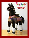 WONDERS SHOP USA - Ponycycle Pony Cycle Ride On Horse No Need Battery No Electric Just Walking Horse CHOCOLATE (Dark) BROWN - Size MEDIUM for Children 4 to 9 Years Old or Up to 90 Pounds